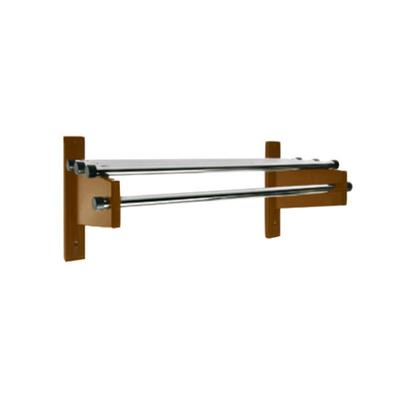 "CSL TDE-3748 48"" Mahogany Wall Mount Coat Rack with Chrom..."
