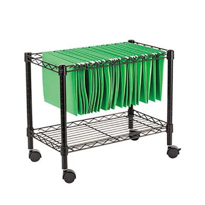 "Alera ALEFW601424BL 14"" x 24"" Black Single-Tier Rolling F..."