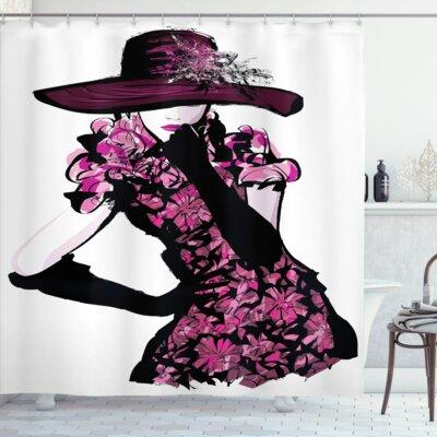 Ebern Designs Anita Woman Furry Hat and Floral Dress Nost...