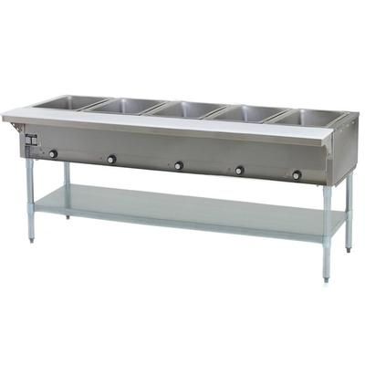 Eagle Group HT5 Liquid Propane Steam Table Five Pan 17,50...