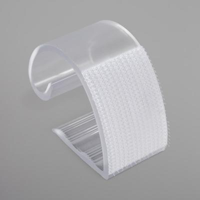 Snap Drape KV100 Clear Plastic Table Skirt Clip with Velc...