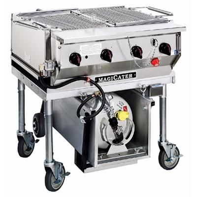 "MAGIKITCH'N LPG30-SS Stainless Steel MagiCater 30"" Portable LP Gas Outdoor Grill"