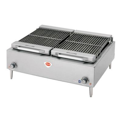 "Wells B-50 36"" Stainless Steel Electric Charbroiler - 240..."