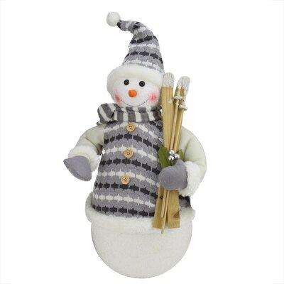 The Holiday Aisle Alpine Chic Snowman with Jacket Christmas Decoration THLA5556