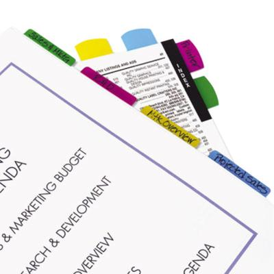 """REDI-TAG 33248 Write-On 4 Assorted Color 2"""" x 11/16"""" Self..."""