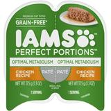 Iams Perfect Portions Optimal Metabolism Chicken Recipe Pate Grain-Free Cat Food Trays, 2.6-oz, case of 24 twin-packs   White Wine Red