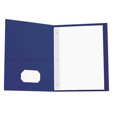 "Universal UNV57116 11"" x 8 1/2"" Dark Blue Two Pocket Pape..."