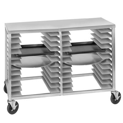 Channel PR-24 24 Slot Mobile Pizza Pan Rack with Aluminum Top