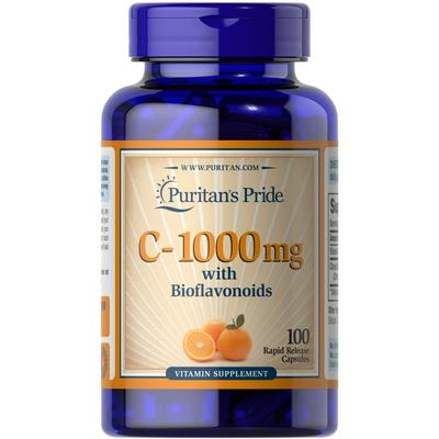 Puritan's Pride Vitamin C-1000 mg with Bioflavonoids-100 Capsules