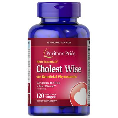 Puritan's Pride Heart Essentials Cholest Wise with Plant Sterols-120 Softgels