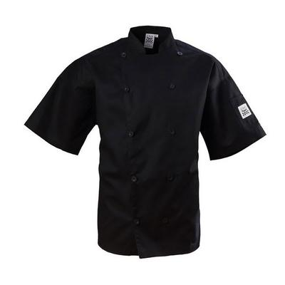 Chef Revival Bronze Black Size 44 (L) Customizable Short Sleeve Double-Breasted Chef Coat