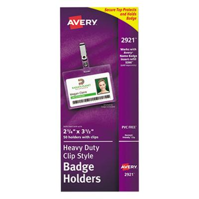 Avery Landscape Badge Holder with Clip