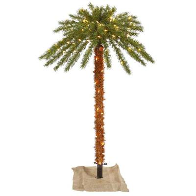 Vickerman 451625 - 6' Outdoor Palm Tree 300 Clear Lights ...