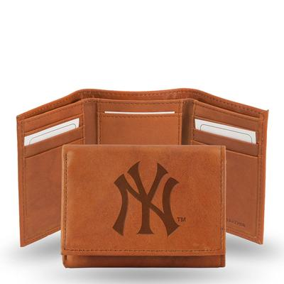 MLB Embossed Tri-Fold Wallet Multi No Size Leather