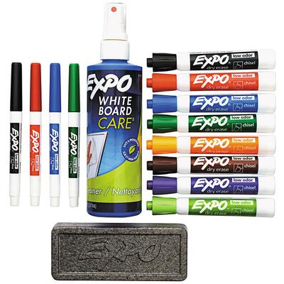 EXPO 80054 Assorted 8-Color Low-Odor Chisel and Fine Tip ...
