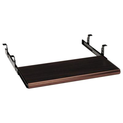 "HON 4022N 21 1/2"" x 10"" Mahogany Sliding Keyboard Tray"