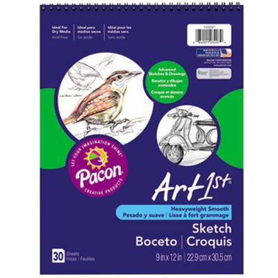 "Pacon 103207 Art1st 9"" x 12"" White Heavy Weight Smooth 80..."