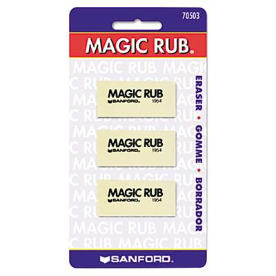 Prismacolor 70503 Magic Rub White Vinyl Eraser - 3/Pack