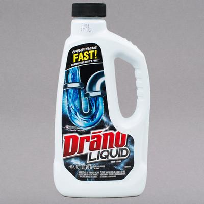 SC Johnson Drano 116 32 oz. Liquid Drain Cleaner - 12/Case