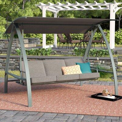 Andover Mills Marquette 3-Seat Daybed Porch Swing with St...
