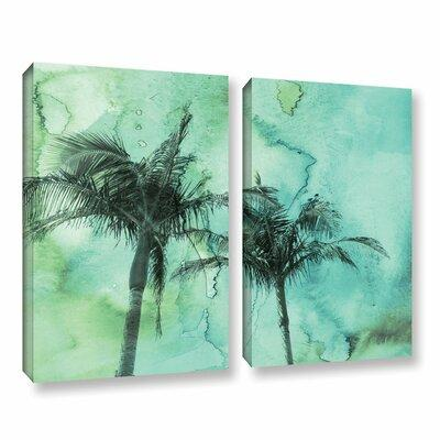 Bay Isle Home Palm Trees 2 2 Piece Painting Print on Wrap...