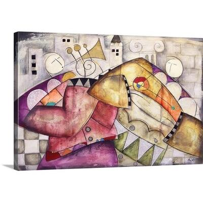 Canvas On Demand 'Ancient City Jazz II Trumpet Congo' by ...