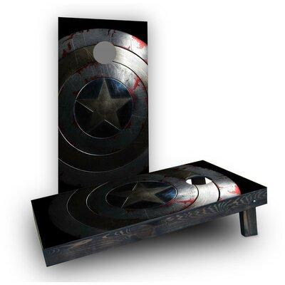 Custom Cornhole Boards Captain America Shield Cornhole Bo...