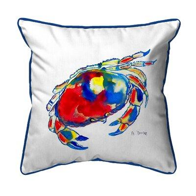 Betsy Drake Interiors Dungeness Crab Indoor/Outdoor Throw...