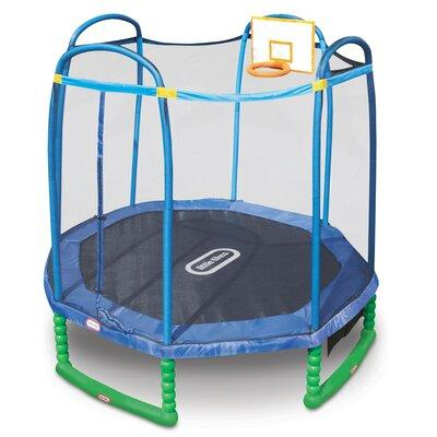 Little Tikes 10' Sports Tampoline with Safety Enclosure 6...