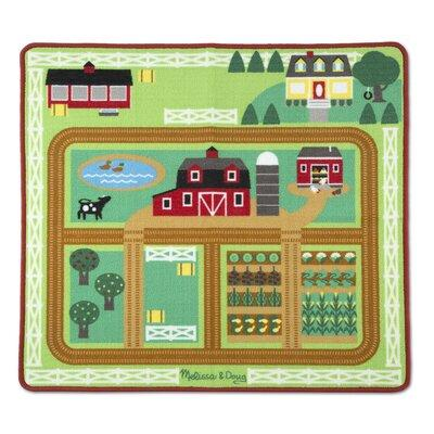 Melissa and Doug Round the Barnyard Farm Rug, Multicolor