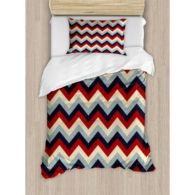 Ambesonne Chevron Duvet Cover Set nev_32207 Size: Twin
