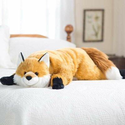 Plow & Hearth Fuzzy Fox Bed Rest Pillow 90260