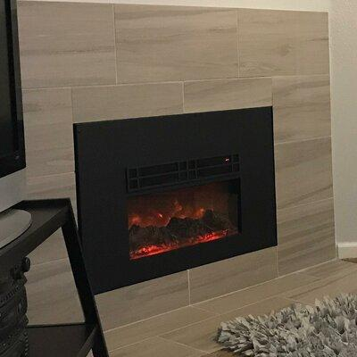Red Barrel Studio Marissa True Flame Electric Fireplace I...