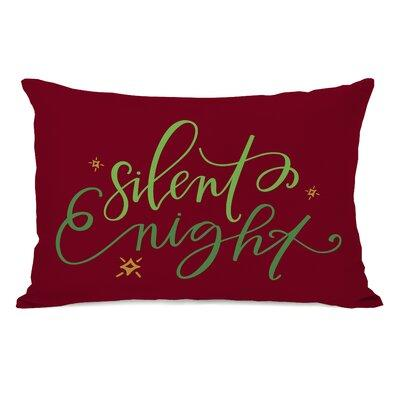 The Holiday Aisle Silent Night Script Lumbar Pillow THLA7065