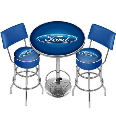 Trademark Global Ford Game Room Combo 3 Piece Pub Table S...