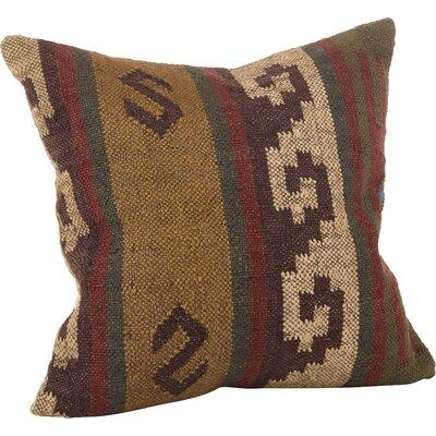 Loon Peak Kilim Wool Throw Pillow Dress your room in contemporary style with Saro Lifestyle\'s Kilim pillow collection.Features: Spot clean only Down filled pillow Insert Included Kilim Pillow collection Materials: Front: 60% Wool - 40% Jute - Back:...