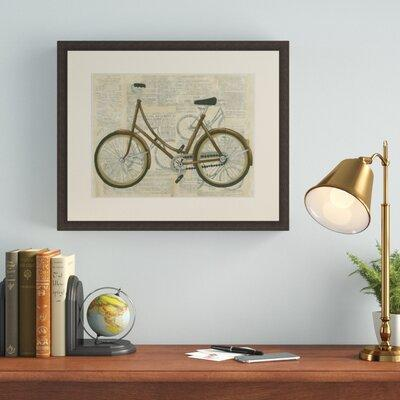Charlton Home 'Tour by Bicycle II' Framed Graphic Art Pri...