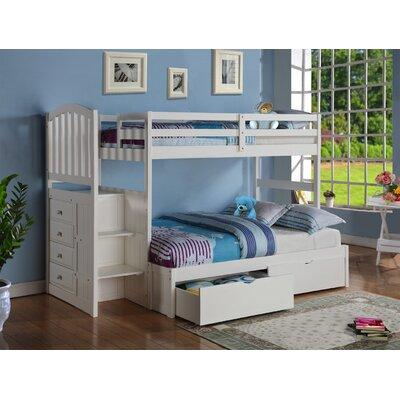 Harriet Bee Whitewall Twin over Full Bunk Bed HRBE3454