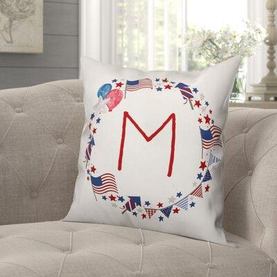 August Grove Ciocca Monogram Wreath Throw Pillow BI081980