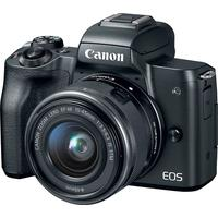 Canon EOS M50 w 15-45mm Lens- Black by Canon at Crutchfield for 649.00