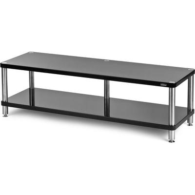 solidsteel HW-2L Wide 2 Shelf A/V Rack- Gloss Black