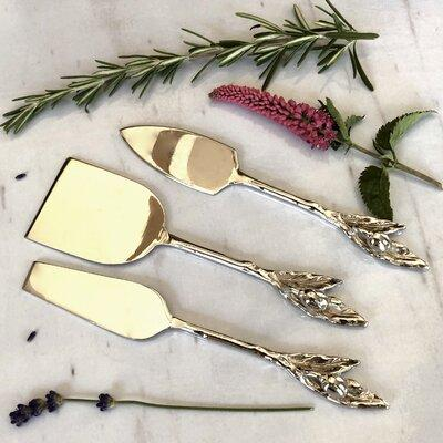 Fleur De Lis Living 3 Piece Byrne Cheese Knives Set FDLV3467