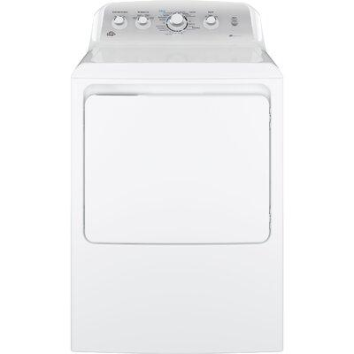 GE 7.2 Cu Ft Front Loading White Gas Dryer