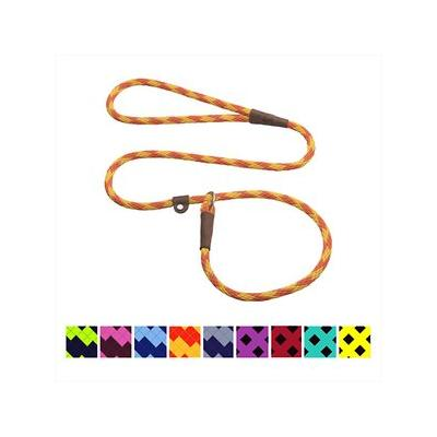 Mendota Products Small Slip Checkered Dog Lead, Amber, 6-ft; Discover the timeless design and lasting quality of the Mendota Products Small Slip Checkered Dog Lead. Handcrafted in the USA, this British-style lead is a leash and collar in one convenient...