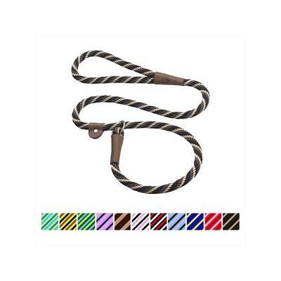 Mendota Products Large Slip Striped Dog Lead, Mocha, 6-ft; Discover the timeless design and lasting quality of the Mendota Products Large Slip Striped Dog Lead. Handcrafted in the USA, this British-style lead is a leash and collar in one convenient...