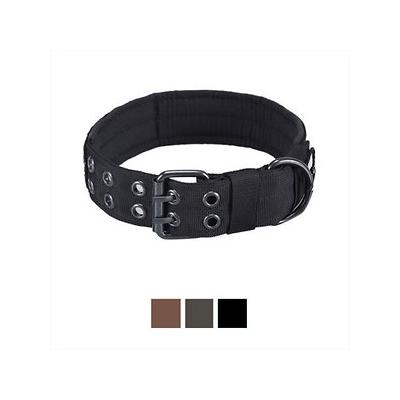OneTigris Military Dog Collar, Black, Large; Watch your pal wear his collar in complete comfort with the OneTigris Military Dog Collar. This flat collar is designed with a soft cushion padding on the inside to prevent skin irritation and discomfort....