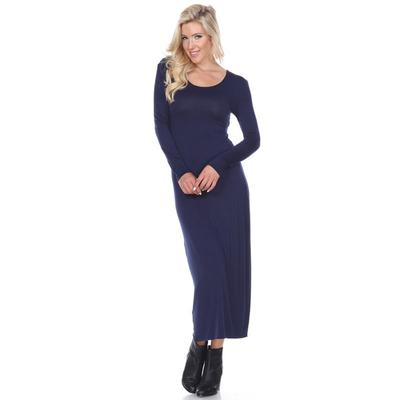 Women's White Mark Solid Maxi Dress, Size: Small, Blue (Navy)