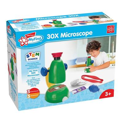 EDU-Toys My First 30X Microscope Science Learning Set, Multicolor
