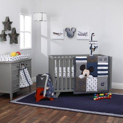 Carter's Disney Mickey Mouse Hello World Star Fitted Crib...