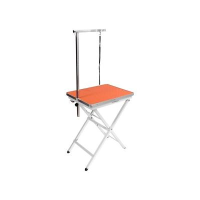 Flying Pig Grooming Mini Portable Dog & Cat Grooming Table with Arm, Orange